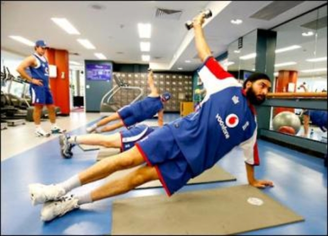 Side plank crucial for cricketers